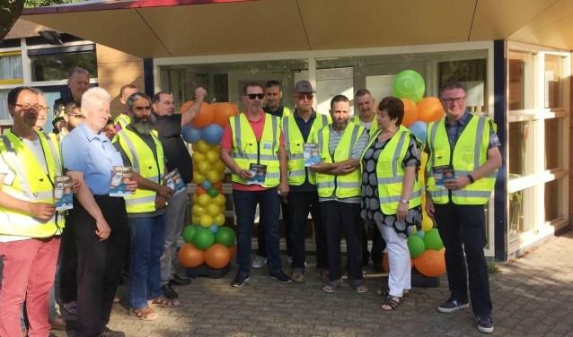 Leden buurtpreventieteam Steenvoorde Zuid.