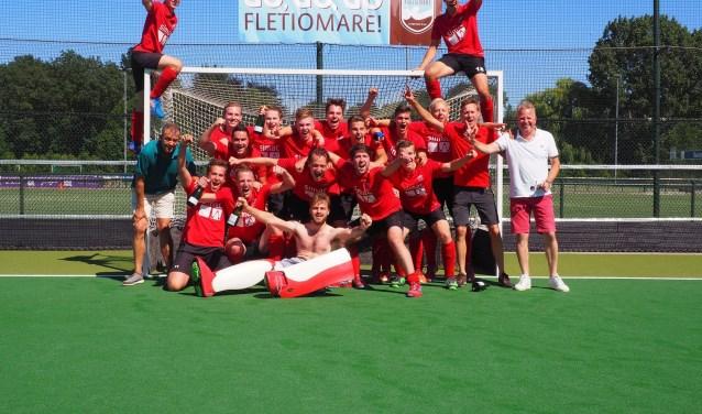 Heren Bosko promoveert naar de 1e klasse na 2 x winst op Fletiomare uit Vleuten - De Meern. FOTO: FB.