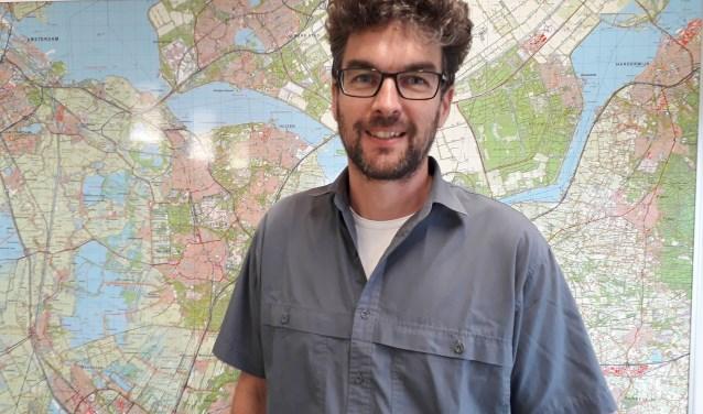 Goos Boelhouwer, adviseur op het gebied vanklimaatadaptatie Hoogheemraadschap De Stichtse Rijnlanden  FOTO: Maarten Bos