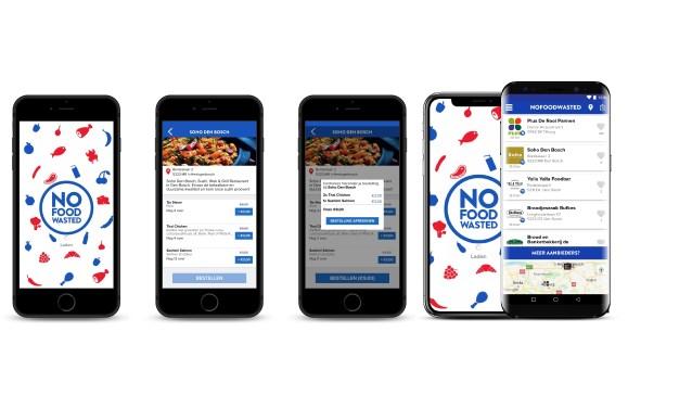 De app NoFoodWasted is te downloaden voor zowel telefoons van Apple als telefoons die op Android draaien. Naast supermarkten doen nu ook horecabedrijven mee, zoals Bufkes, Don Curado, Soho en Yalla Yalla.