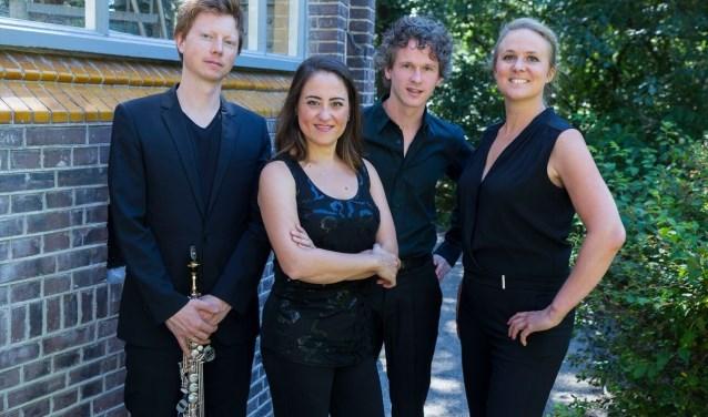 Berlage Saophone Quartet treedt op Het Hortus Festival op. Foto: PR