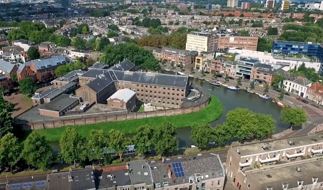 De stadsgevangenis Wolvenburg gaat binnenkort in de verkoop. Foto: PR