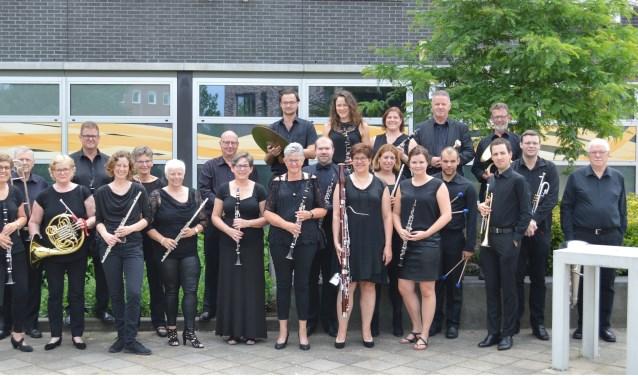 Gedeelte van het harmonieorkest van Harpe Davids