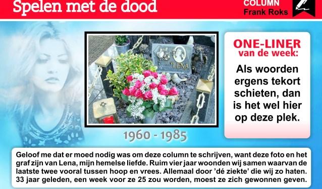 Kunstenaar, schrijver, dichter Frank Roks trakteert wekelijks op een uit het leven gegrepen column en een grafische kunstzinnige fotocompositie. U kunt persoonlijk reageren via zijn facebook of via www.2crea8.nl