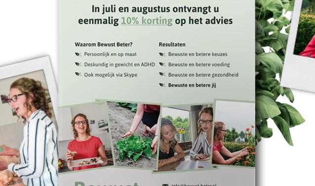 De flyer van Bewust Beter voor de maand juli en augustus