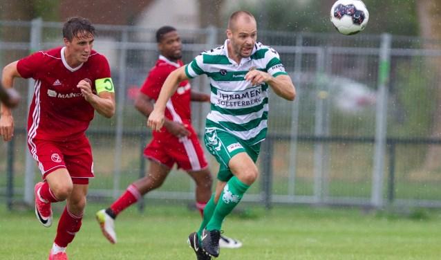 Door een 2-2 gelijkspel bij Almere City FC bleef Go Ahead Eagles ook ongeslagen in de vijfde oefenwedstrijd van de voorbereiding op seizoen 2018/19. (Foto: Henny Meyerink)