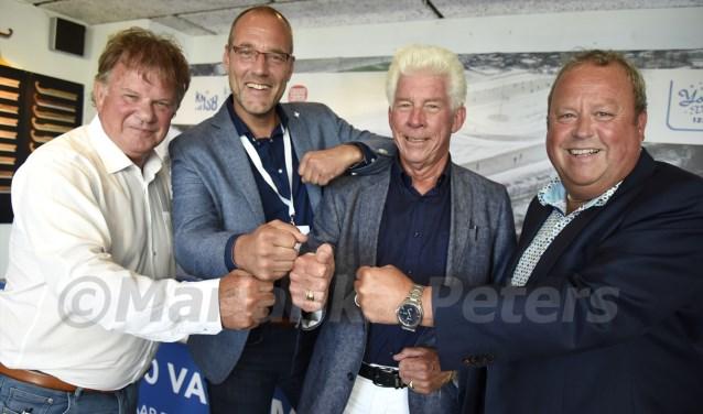 It giet oan! vlnr Herman Gruijters, Remko van der Hammen, Jan den Ouden en Bert Timmermans. Foto: Marianka Peters