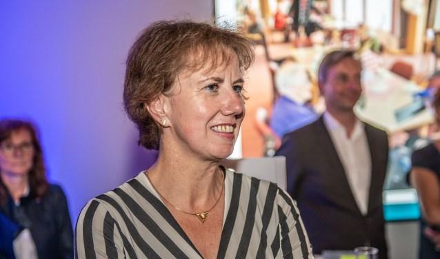 Margo Mulder bij haar afscheid. Op 12 september wordt zij geinstalleerd als burgemeester van de gemeente Goes. Foto: Paul Engelkes