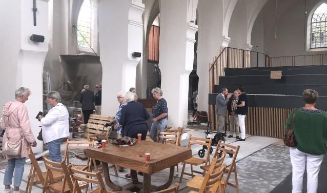 Het is nauwelijks voorstelbaar dat in de Dorpskerk op 22 juli weer een kerkdienst wordt gehouden. Toch blijft dat de planning.
