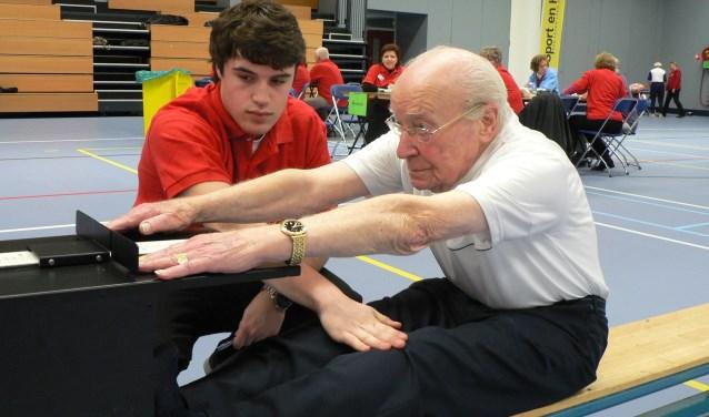 Tot op hoge leeftijd deed André du Pon mee aan de fittest voor 55-plussers. (Foto: Peter Spek)