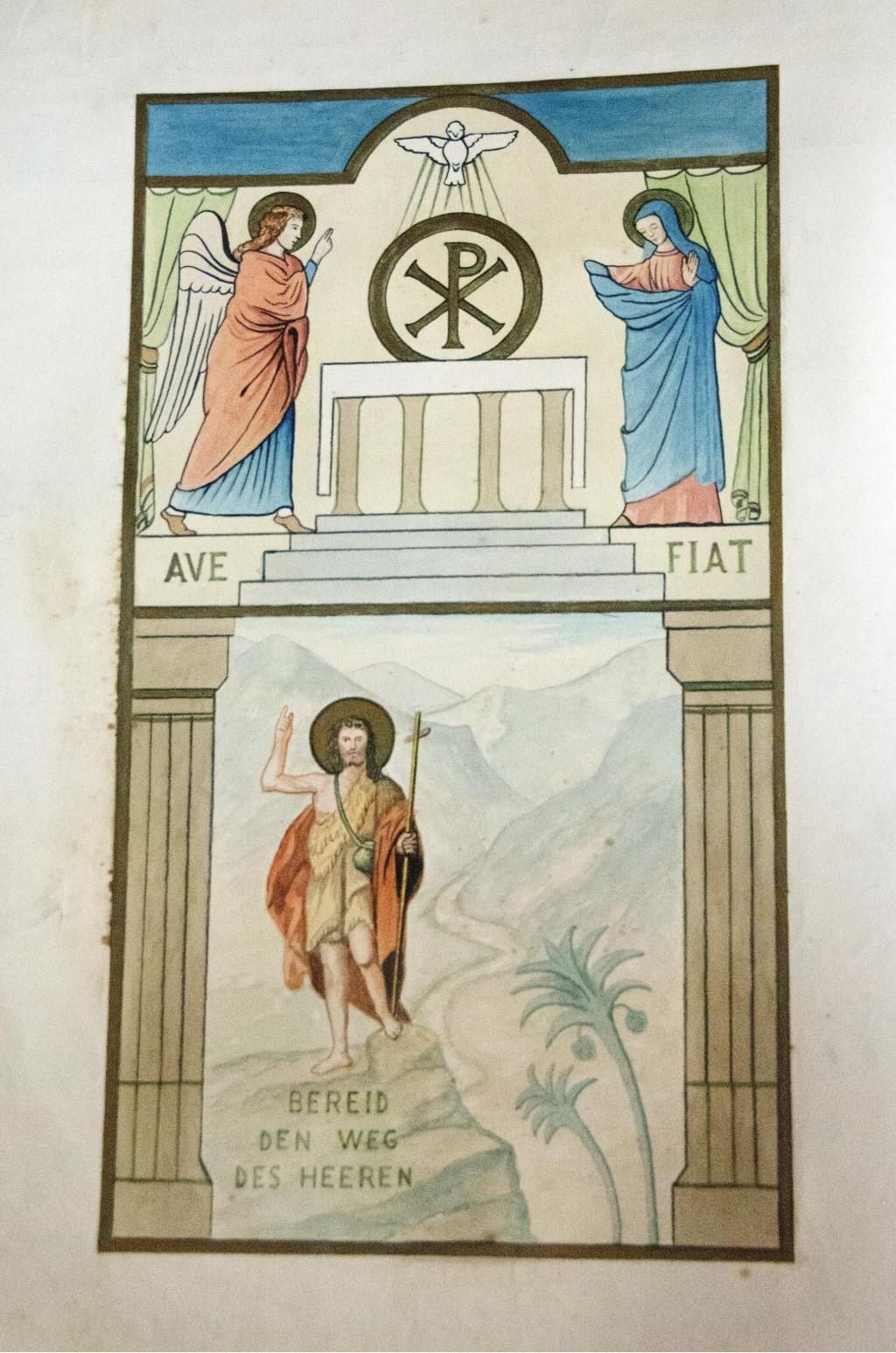 Een afbeelding uit één van de Gradualen
