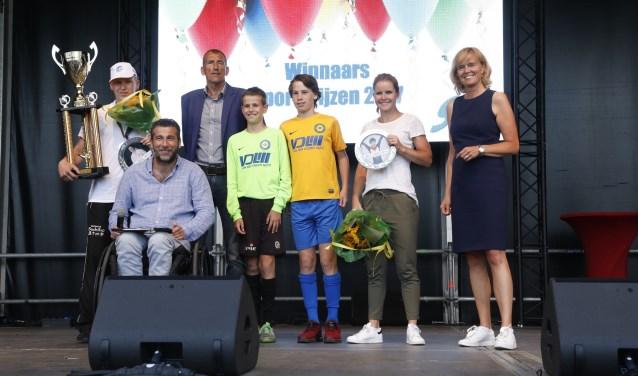 De Winnaars van het Sportgala. Foto: Wim Ijzendoorn