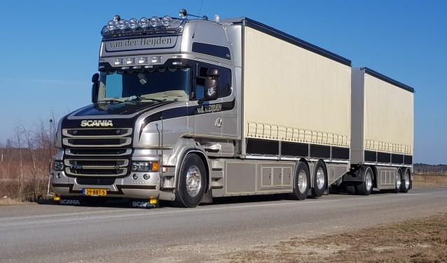Van der Heijden Transport uit Boxtel is een van de kanshebbers op de eretitel Mooiste Truck van Nederland.