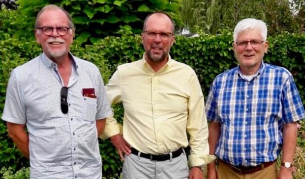 Drie van de initiatiefnemers van Progressief Molenlanden; v.l.n.r.: Johan de Kruijk, Ferry van der Koelen en Paul Verschoor. Eigen foto