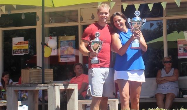 Clubkampioenen 2018 Fabian Wagenaar en Sabine Vioen
