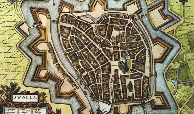 plattegrond Zwolle 1652