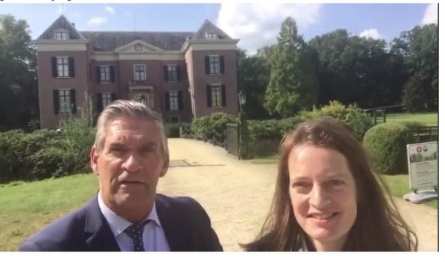 Burgemeester Frits Naafs heeft het voortouw genomen en een filmpje gemaakt voor Huis Doorn.