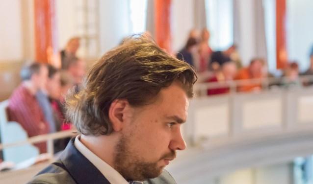 Organist Evan Bogerd speelt vanavond in de Oude Kerk.
