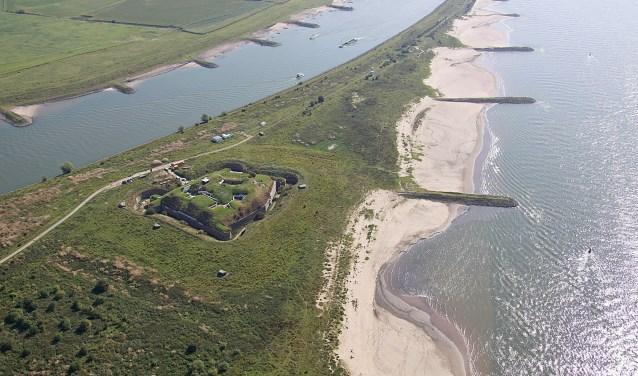 Bovenaanzicht Fort Pannerden