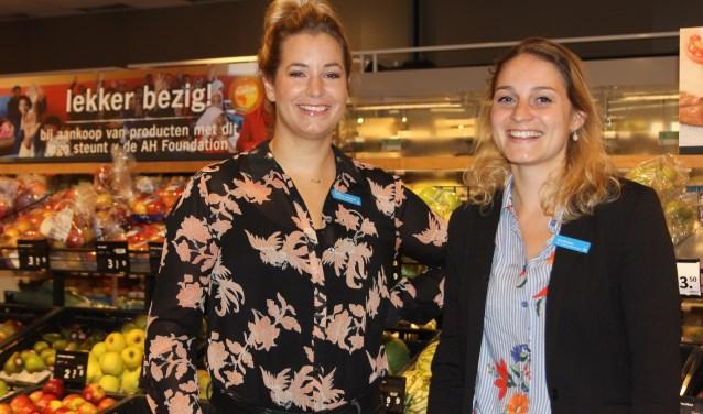 Bedrijfsleider Cindy en haar assistent Eva zijn in de weer om mensen met een vorm van autisme prikkelvrij te kunnen laten winkelen. Foto: Wendy van Lijssel