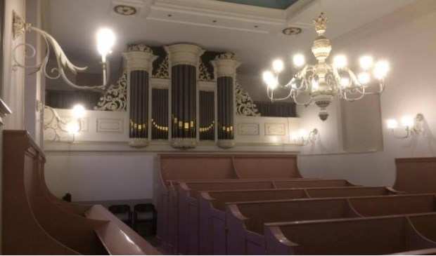Het orgel in de Lutherse Schuilkerk aan de Langendijk. Eigen foto