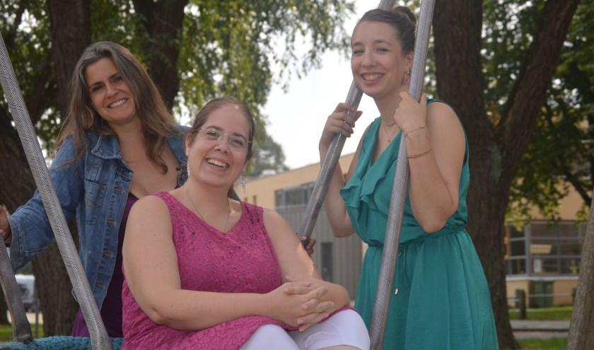 De organisatie van 'Pierik op z'n leukst'. Van links af Diana Terlingen, Helmi van Mechelen, Laura Snijder.