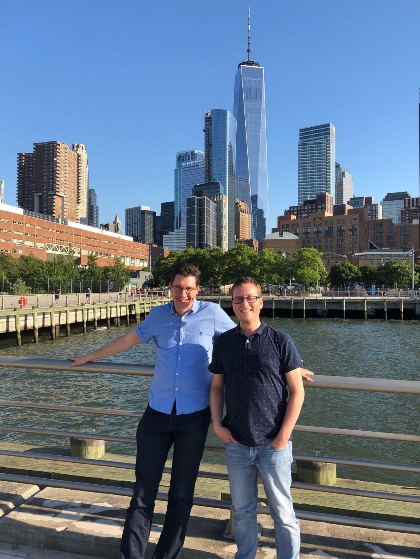 Software ontwikkelaars van Peercode Joachim Jansen en Teun Klijn tijdens hun trip in New York