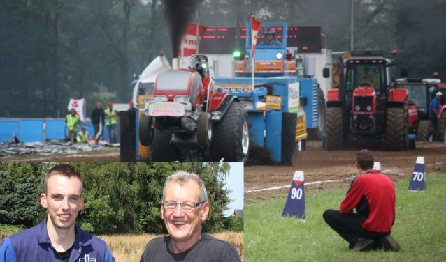 Bij Tractor Pulling Lochem staat veiligheid en gezelligheid centraal. Vlnr. Tom en Gerrit Esselink. (Foto: Arjen Dieperink)
