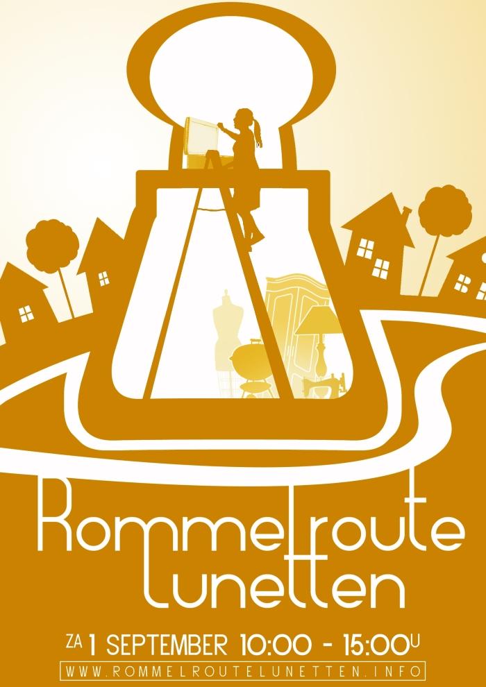 De poster van Rommelroute Lunetten