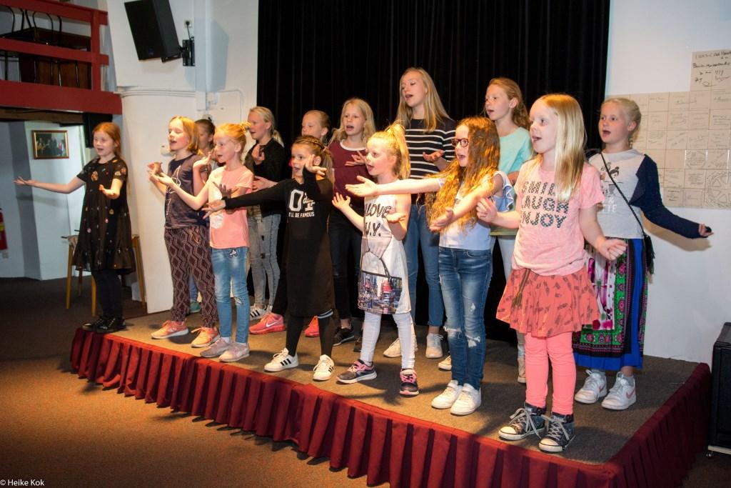 Kinderkoor Sing a Song verleent medewerking aan de Wereld Alzheimer Dag op 21 september. Foto: Heike Kok  © Persgroep