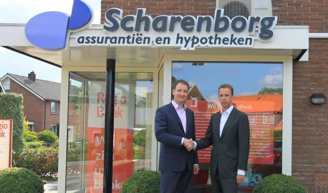 Scharenborg Beltrum b.v. komt in andere handen. Edwin Penterman (links) neemt de zaak over van Huub Scharenborg.