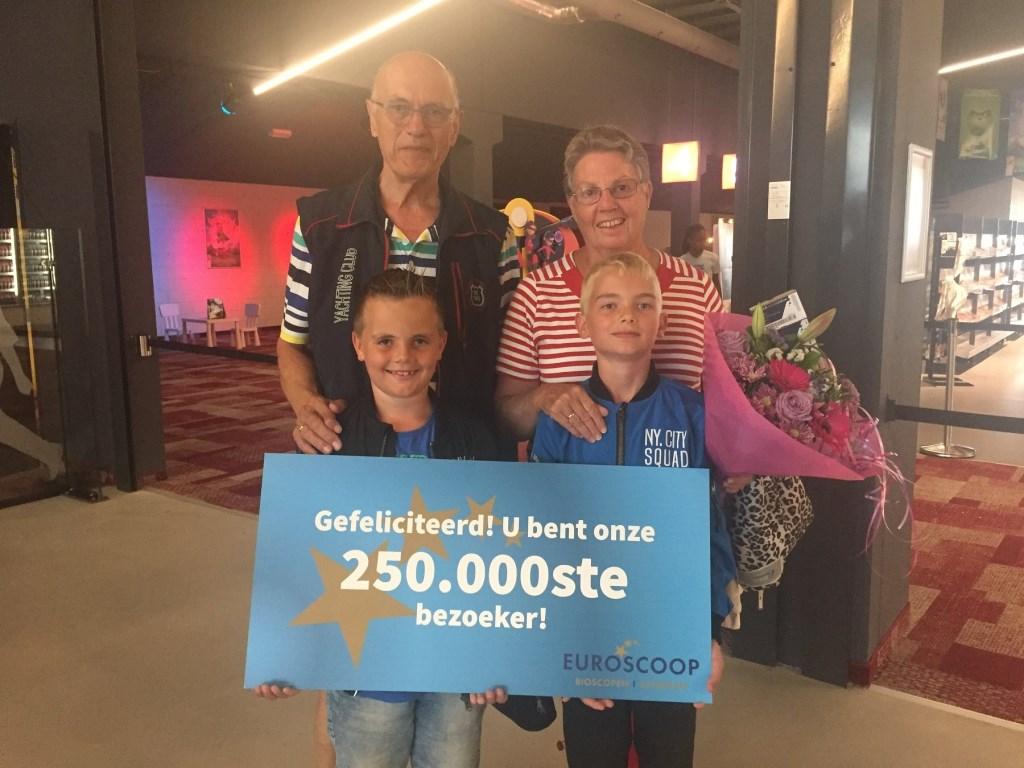 Mevrouw van Vugt was aangenaam verrast door het winnen van deze prijs.