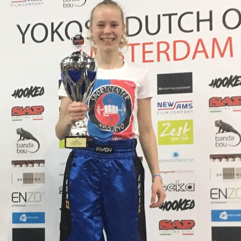 Merel de Rijke is pas 14 jaar maar nu al één van de grootste taekwondo talenten van Nederland.