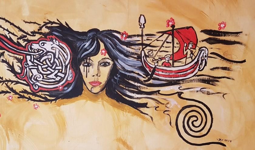 Keltische Nehalennia ontworpen door Kunstenaar Damy vd Waal