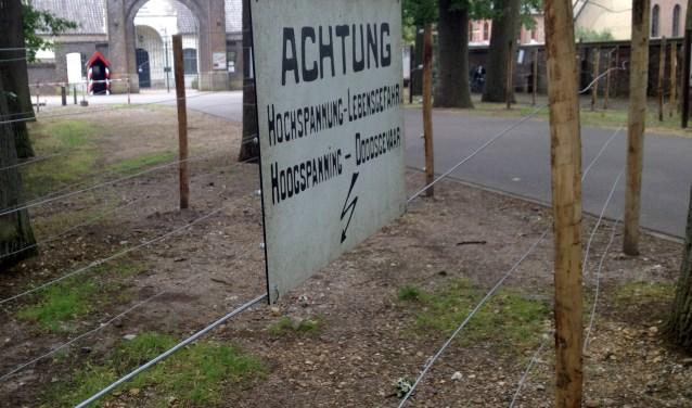 De reconstructie van de dodendraak bij de Achelse Kluis in Hamont-Achel.