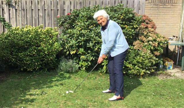 """Riet Sengers: """"Vijfentwintig jaar geleden heb ik me aangesloten bij Golfbaan Welschap."""" (Foto: DFP)"""