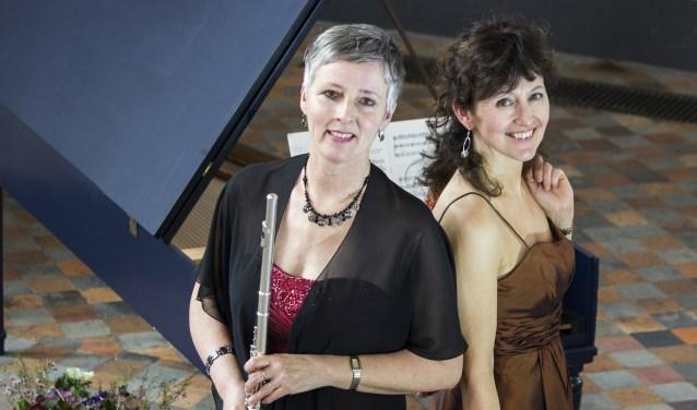 Dwarsfluitist Jeanette Pol en organist Els Dijkerman. Foto: Hans Wielakker.