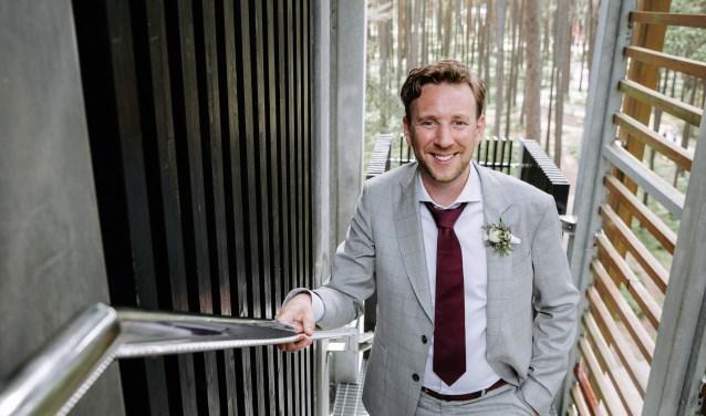 De 37-jarige Frank Schram uit Eindhoven zat een poos werkloos thuis, maar heeft weer een baan gevonden.