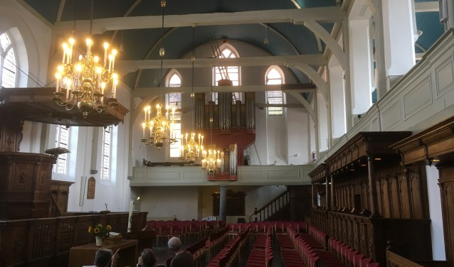 De Gasthuiskerk aan het Havenplein 17 in Zierikzee is open tot en met 24 augustus open op maandag-, woensdag-, donderdag- en vrijdagmiddag van 13.30 tot 16.30 uur. FOTO: PR
