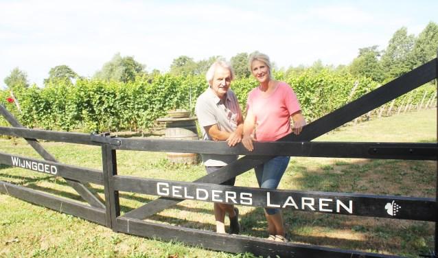 Gert Jan Voortman en Diana van der Biezen op hun wijngoed in Laren. (Foto: Arjen Dieperink)