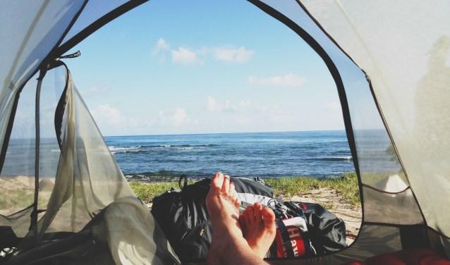 62,2% van alle kampeerders slaapt tijdens het kamperen op een luchtbed.