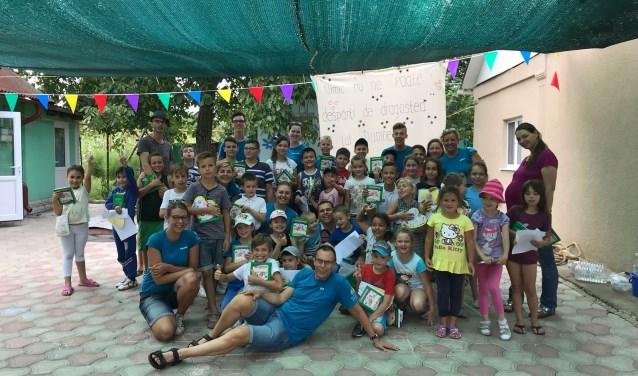 De kinderen genoten van hun deelname aan het kinderkamp. (Foto: Stichting Hart voor Moldavië)