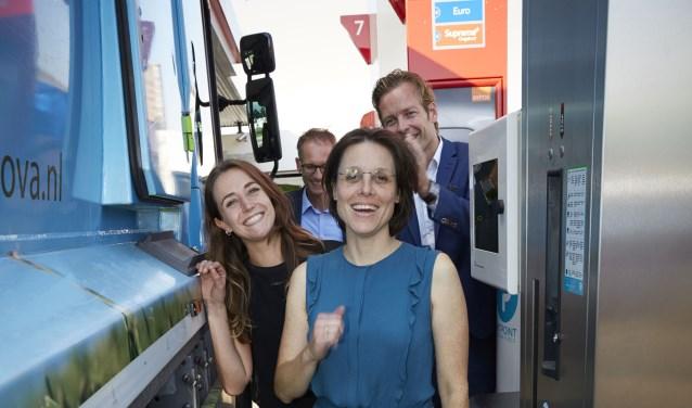 Tijdens de opening was ook GroenLinks-wethouder duurzaamheid Astrid Janssen present.