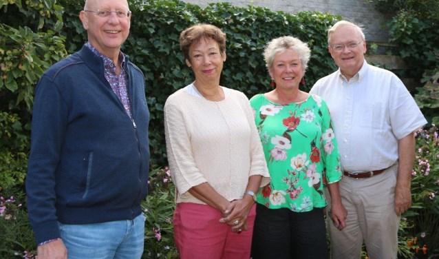 vlnr Age Halma, Jeanette van Ulden, Jacquelina Berkhout en Danker van Valkenburg. FOTO: Maarten Bos