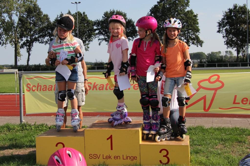 podium met de jongste deelnemers Foto: eigen foto © Persgroep