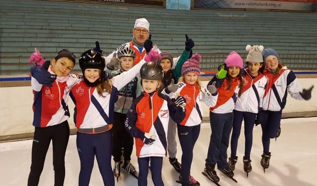 Jeugdschaatsers in Den Haag