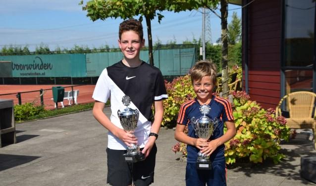 Winnaars Wytze de Geus (links) en Bas van Baardewijk (rechts). (Foto: Privé)