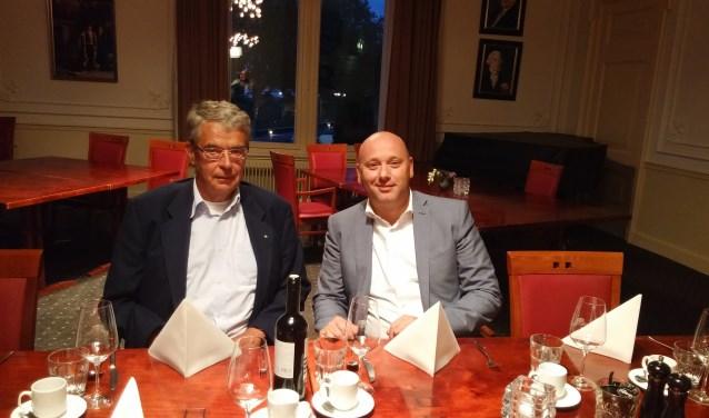 Rotarians Jan Weber en Henk van der Sar geven alvast het goede voorbeeld. Zij schuiven 4 oktober aan bij het Charity Dinner voor het hospice.