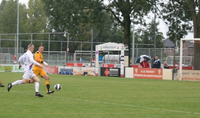 De eerste competitiewedstrijd van VVGZ eindigde in een gelijkspel. (FOTO: Jan Boom)