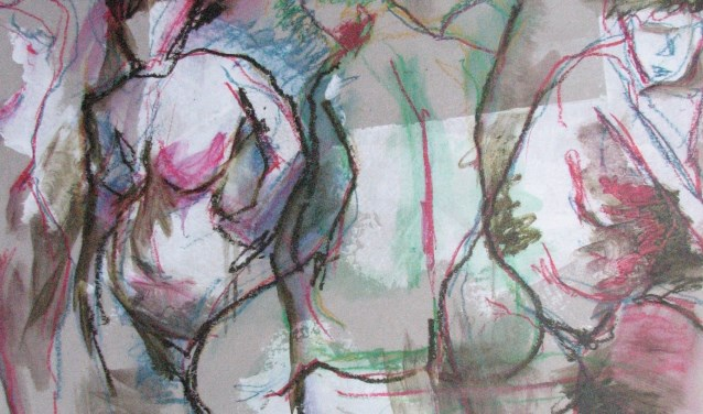 Modelstudie, een van de werken die onderdeel uitmaken van de expositie 'Vanuit het hart'.